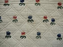 Wool flowers Woven on Linen Quilt French 18th century - picture 5