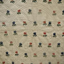 Wool flowers Woven on Linen Quilt French 18th century - picture 6