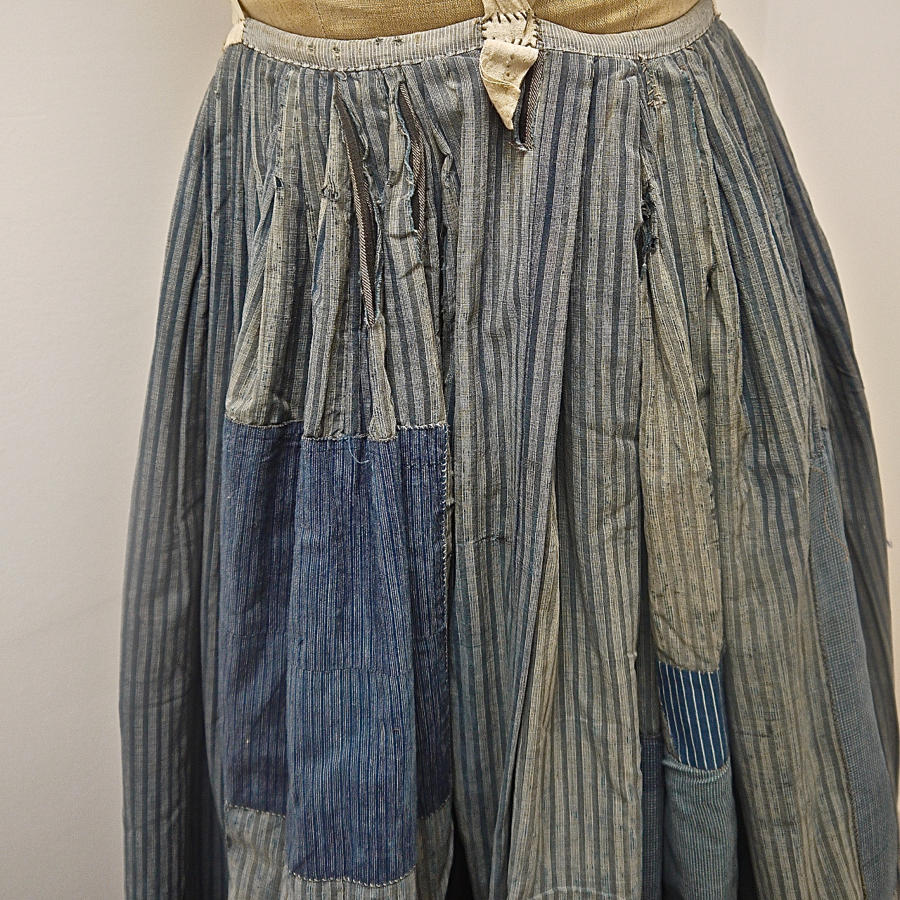 Indigo Cotton Patched Jupon 19th century French