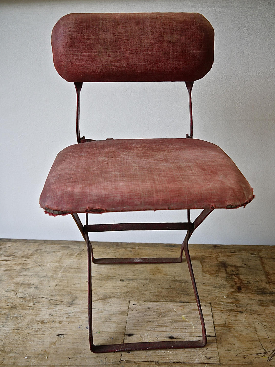 Child's Red Folding Chair French Early 20th century