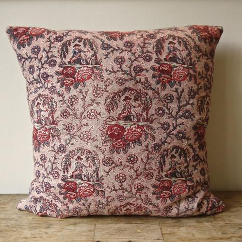 Naive Toile Cushion 18th century French