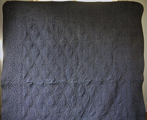 Indigo Striped Cotton Quilt