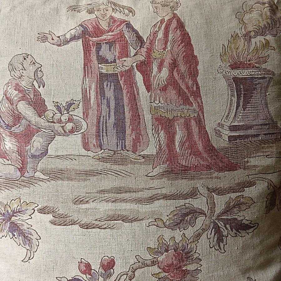 Large Scale Figures Linen Cushion
