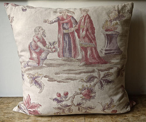 Large Scale Figures Linen Cushion