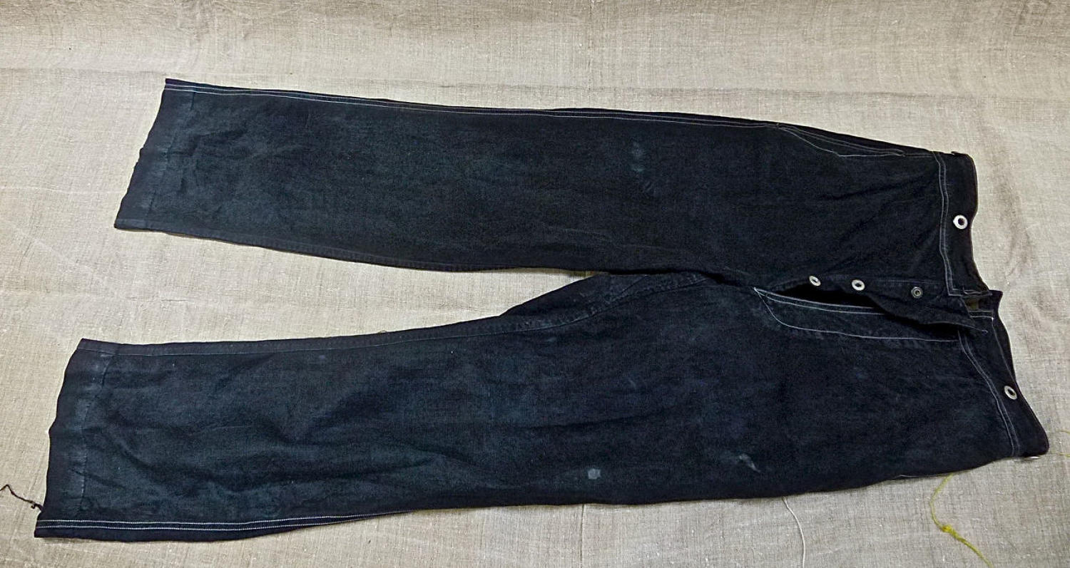 Indigo Linen Workwear Trousers French late 19th century