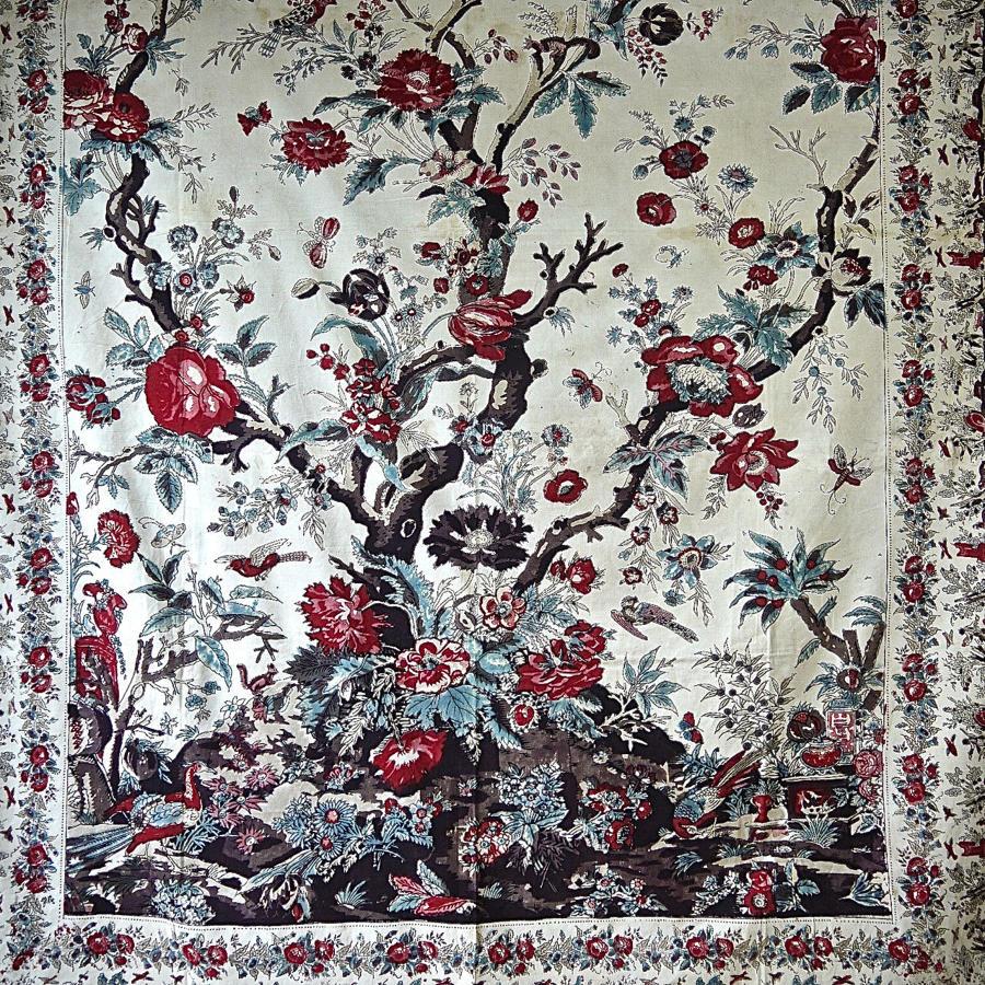 Tree Of Life Mezzarro Cotton Panel 1840-50