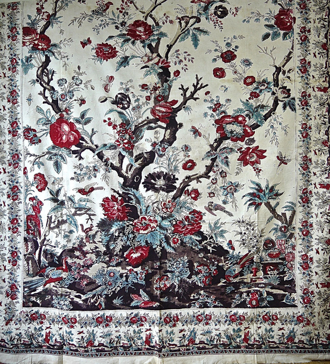 Tree Of Life Mezzarro Cotton Panel 1840-50