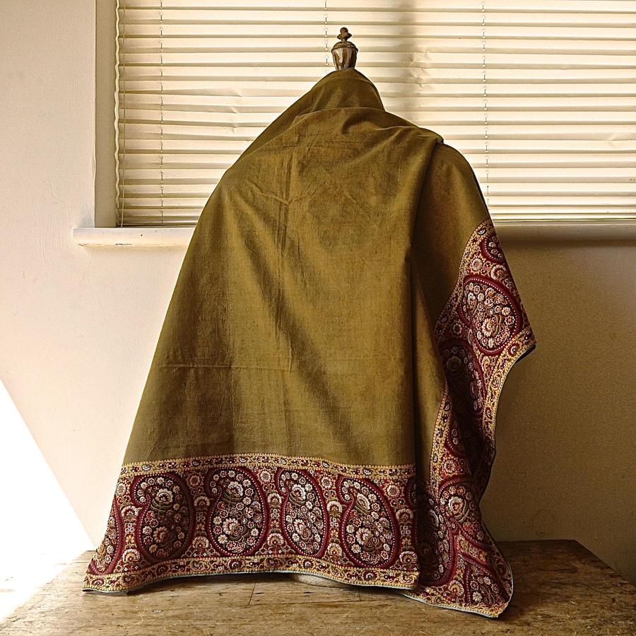 Pailsley Motif Cotton Scarf Mouchoir de Cou French 19th Century