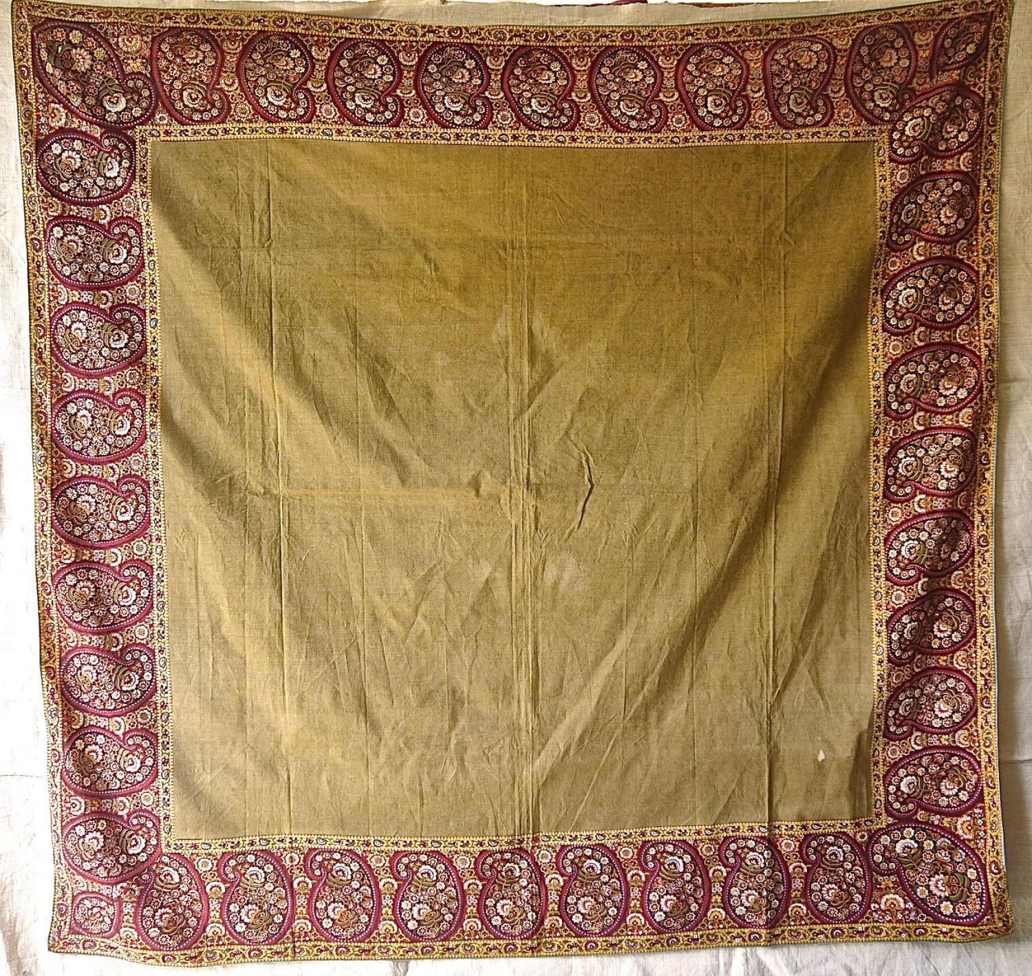 Pailsley Motif Cotton Scarf Mouchoir de Cou French 19th Century