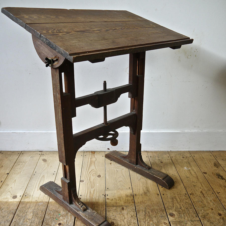 Small Adjustable Workshop Desk French 19th Century