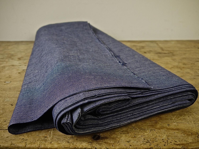 Indigo Stripe Woven Cotton French 19th Century