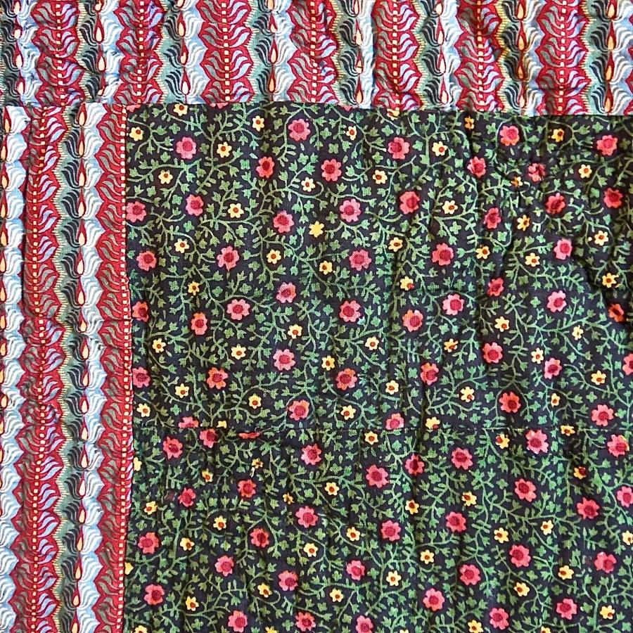 Bonnes Herbes Cotton Quilt French Early 19th Century
