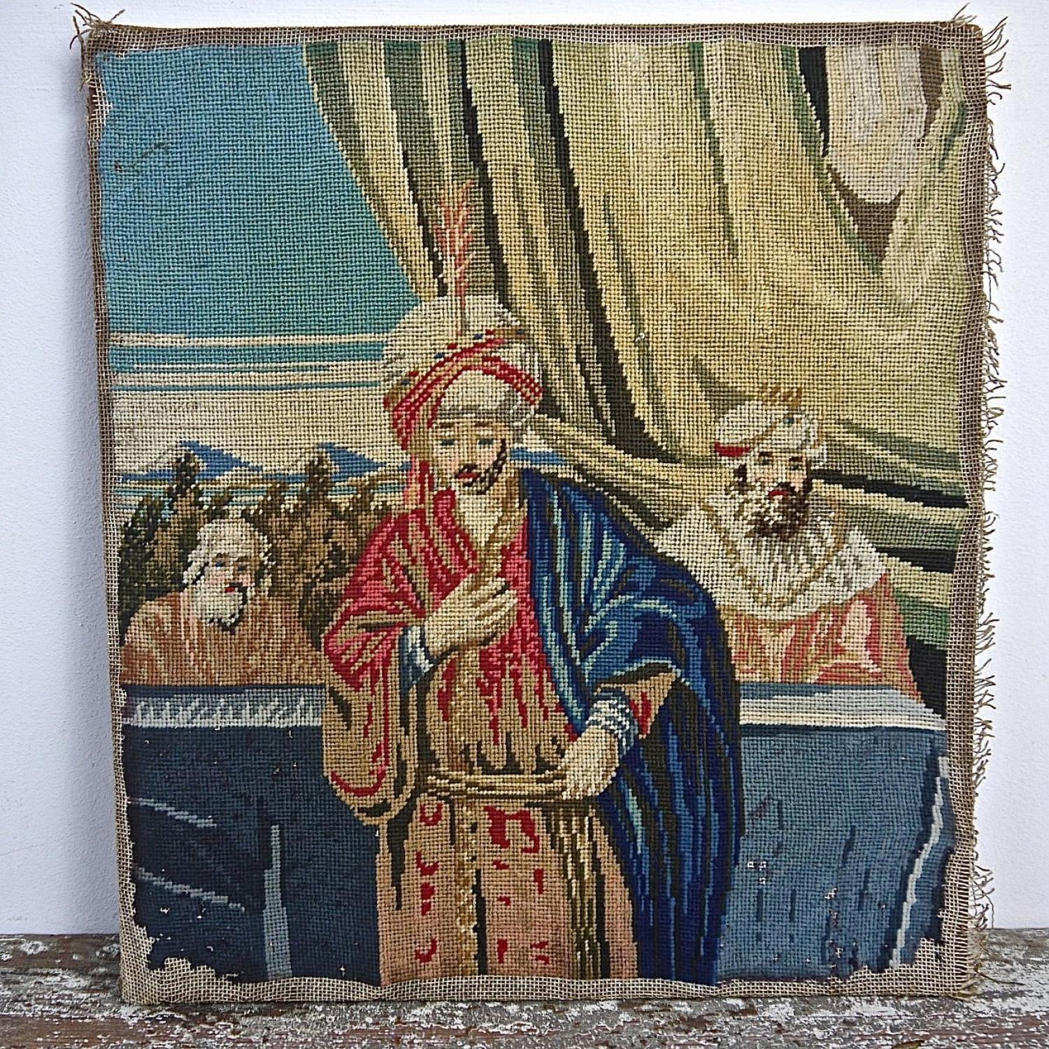 Needlepoint Picture French 19th Century