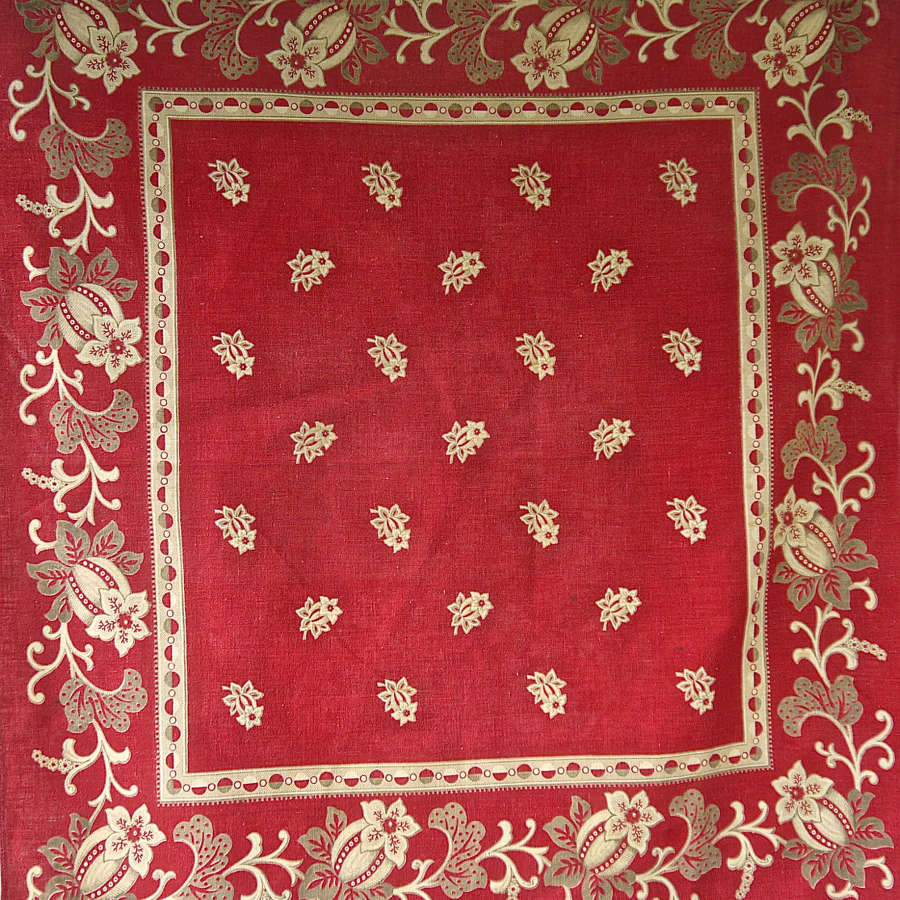 Soft Red Mouchoir de Cou French 19th Century