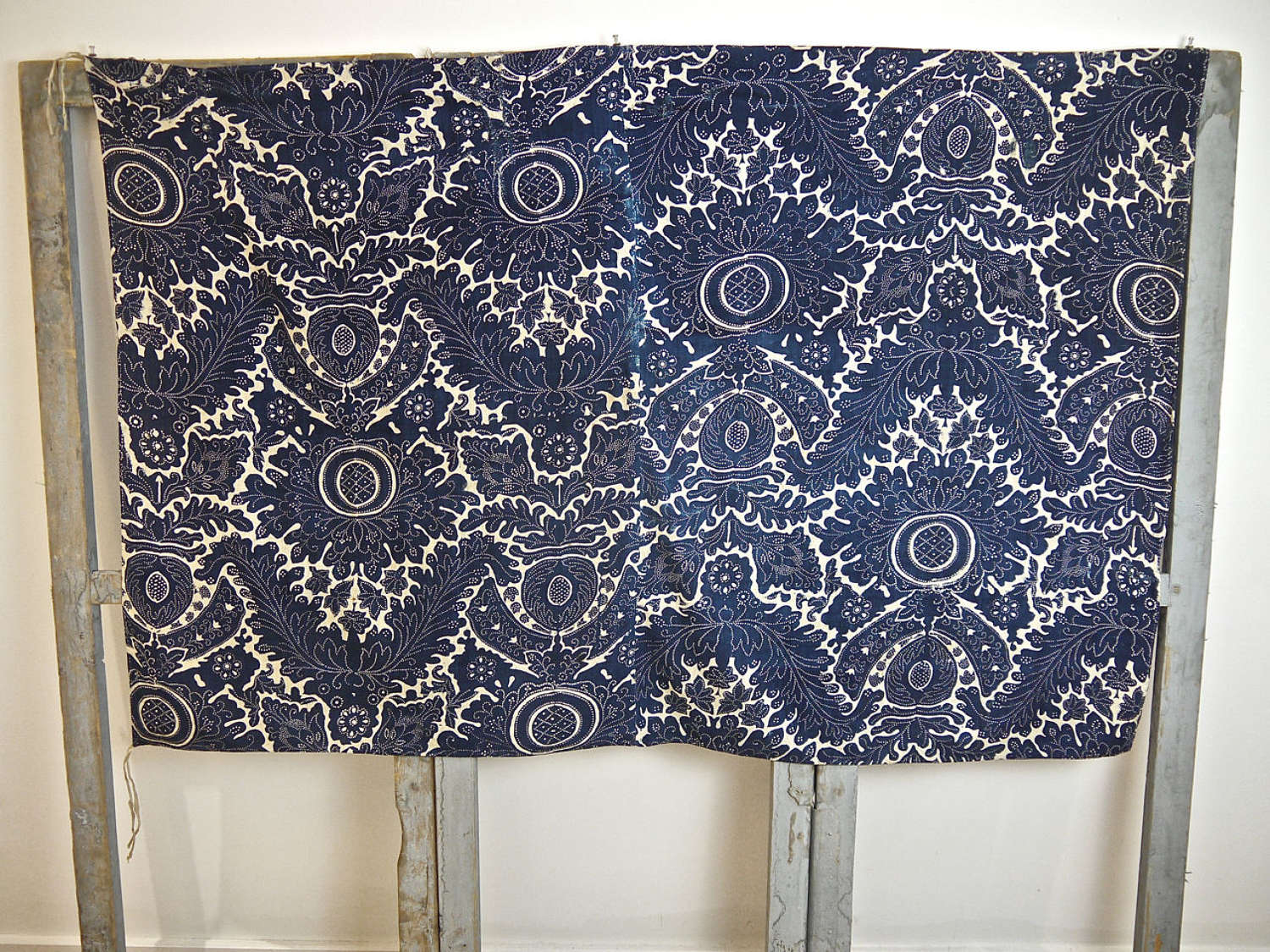 Indigo Blockprinted Cotton Textile French 18th Century