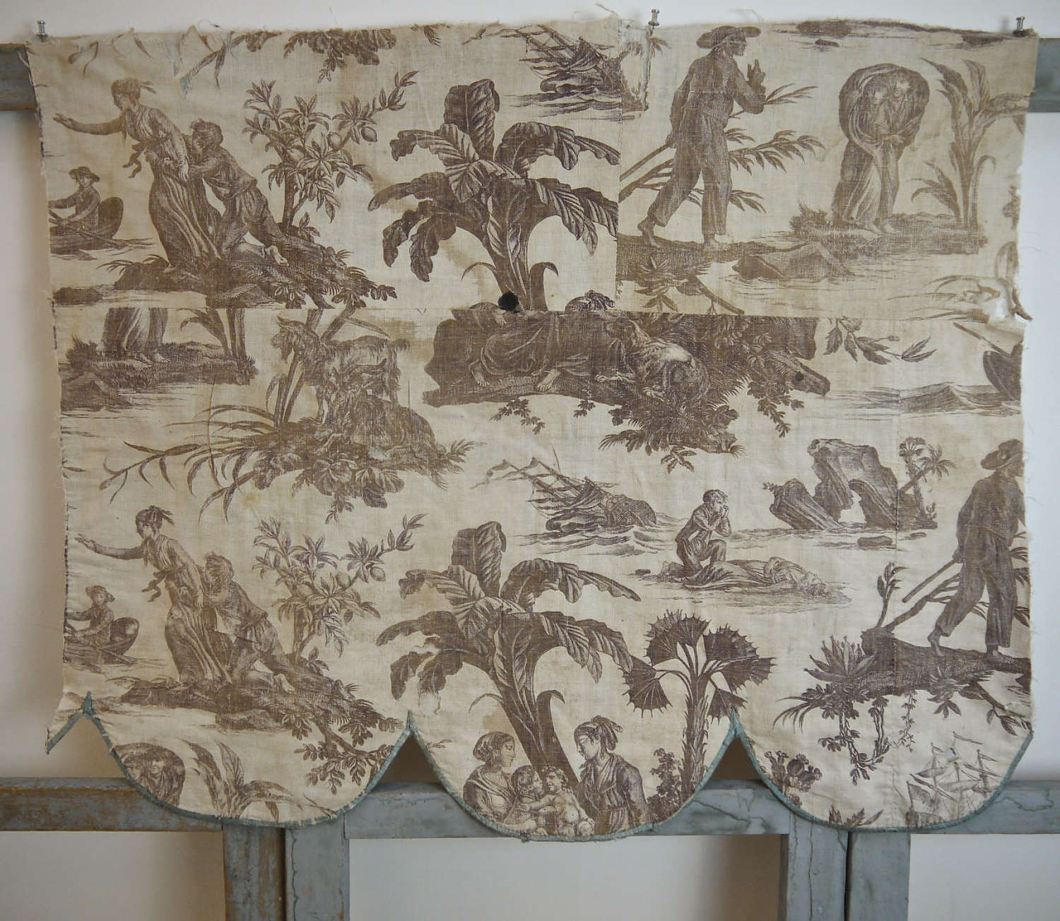 Paul et Virginie Toile de Jouy Document French c.1810