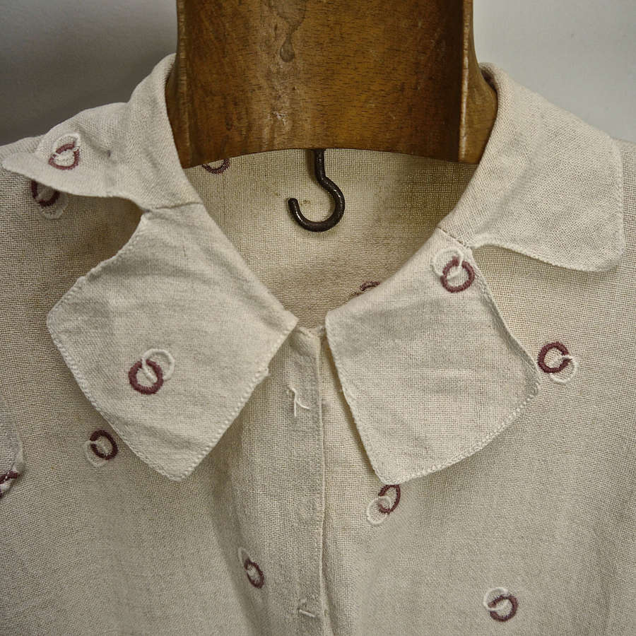 Linen Dress French 1930s