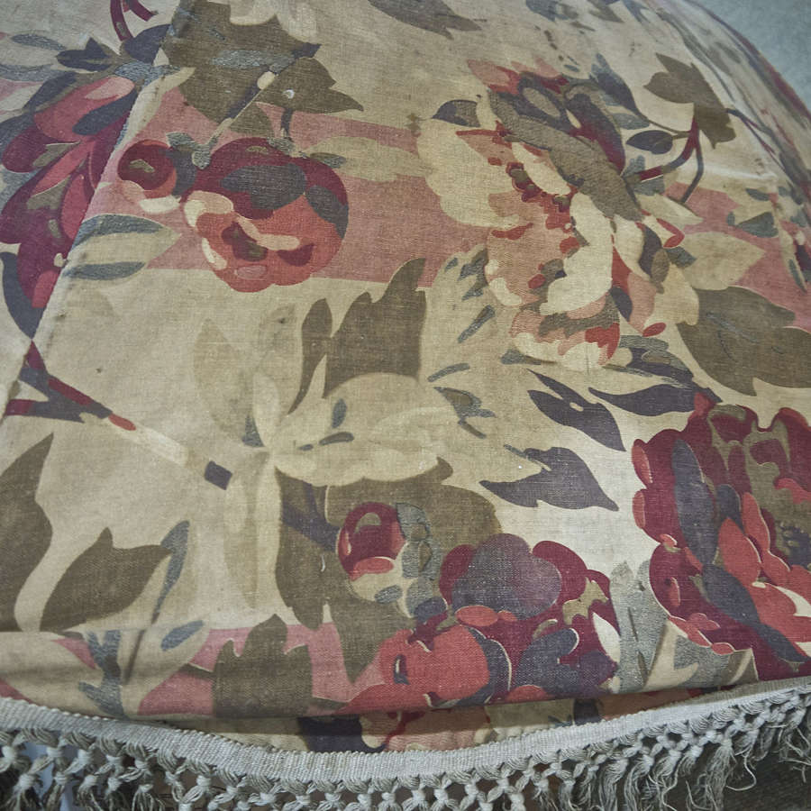 Large Floral Print Sun Parasol French Early 20th Century