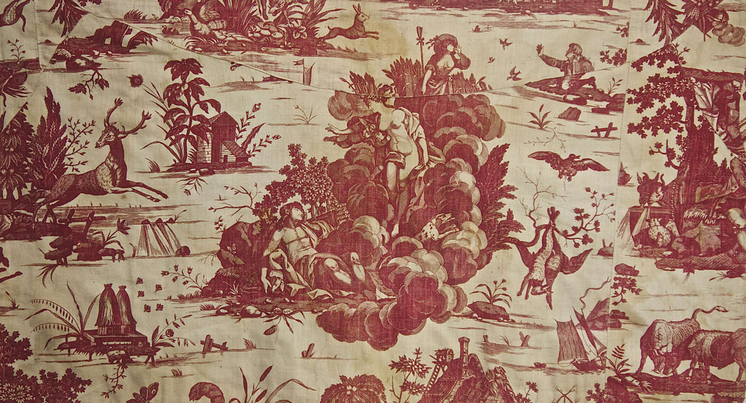 Diane et Endymion Red Toile French c.1785