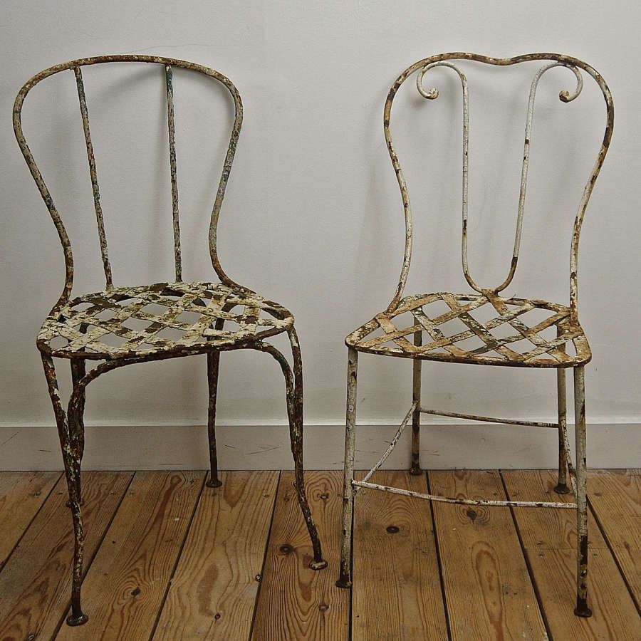 Pair of Garden Chairs French 19th Century
