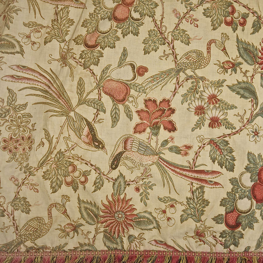Pair of Indienne Cotton Curtains French 19th Century