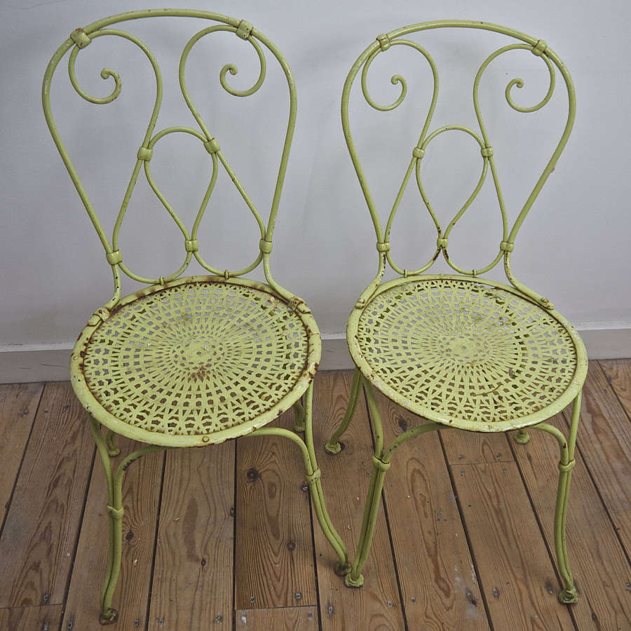Pair of Garden Chairs French Early 20th Century