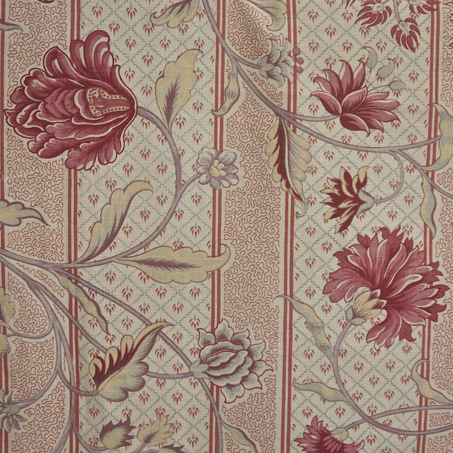 Indienne Printed Cotton Textile French 19th Century