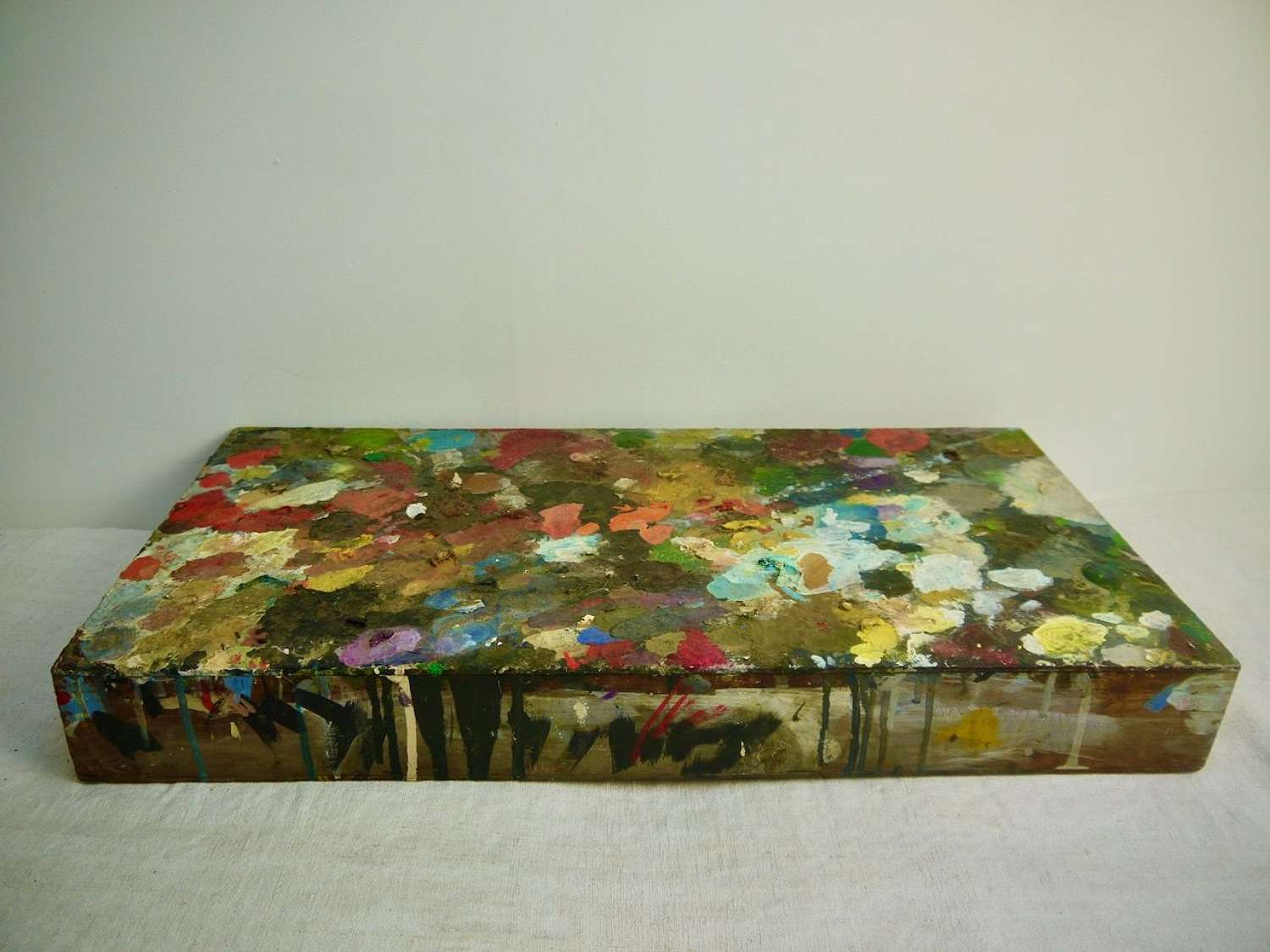Paint Covered Wooden Box French late 19th Century