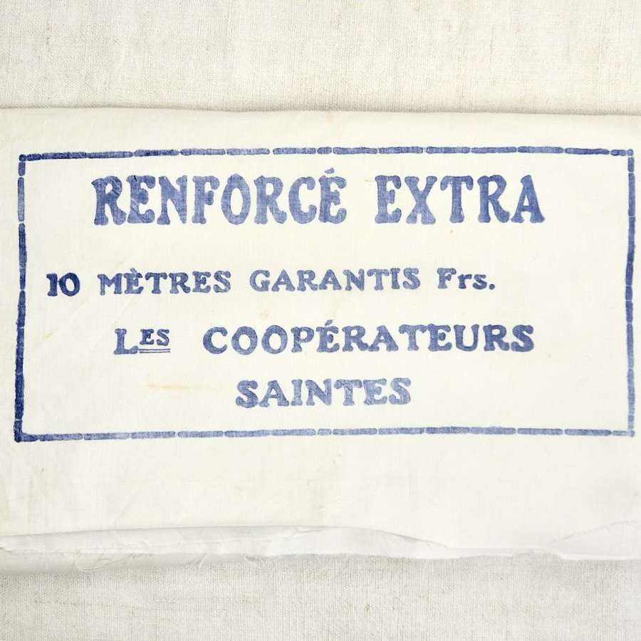 Roll of White Cotton French Early 20th Century