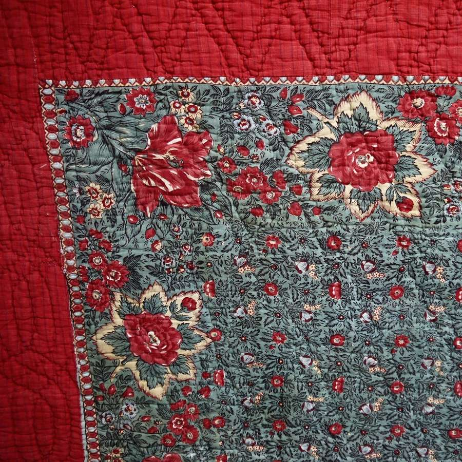 Bonnes Herbes Cotton Quilt French Late 18th Century