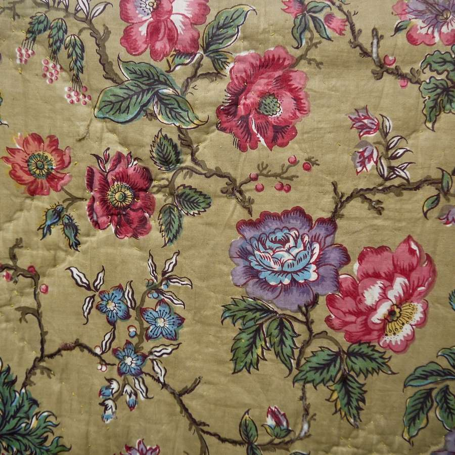 Indienne Cotton Quilt French early 19th Century