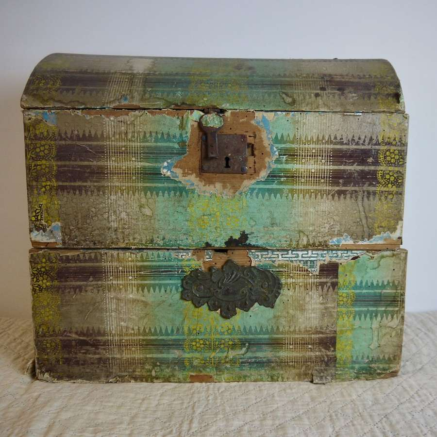 Papier Peinte Mariage Box French 19th Century
