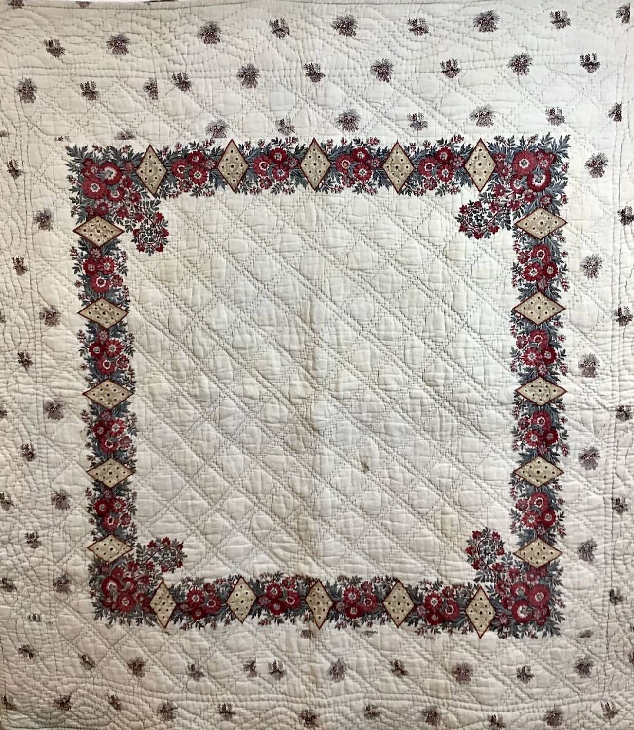 Fichu Cotton Quilt French 18th Century