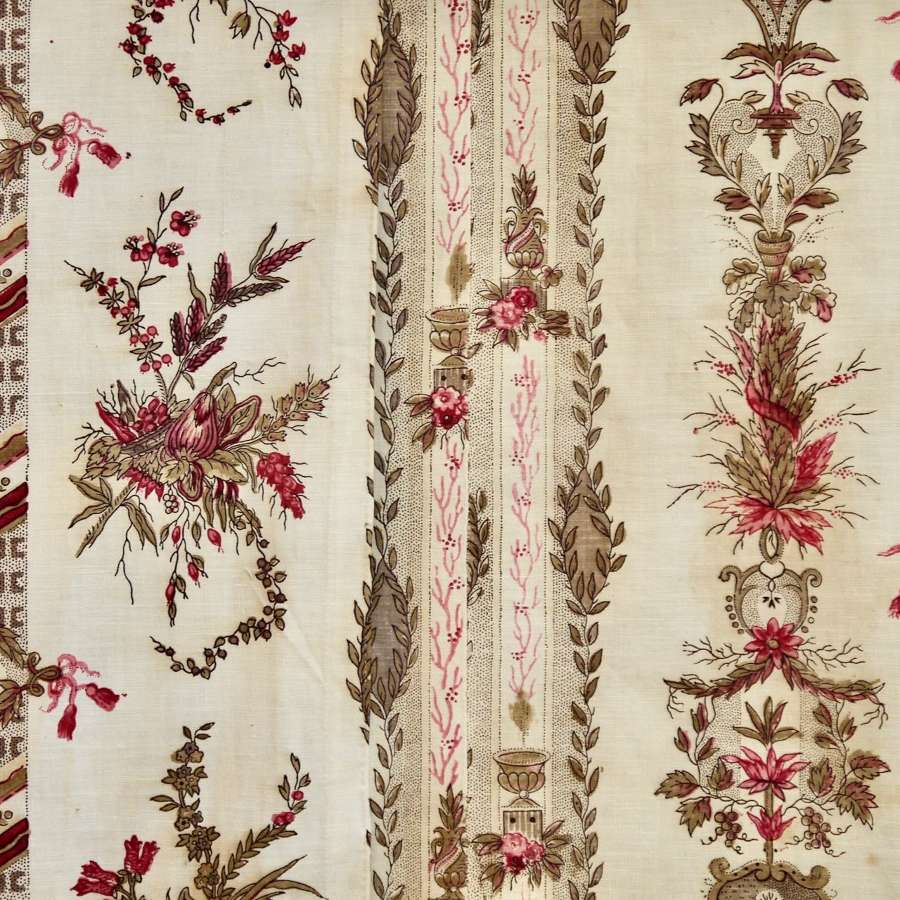 Pair of Printed Cotton Panels French 18th Century