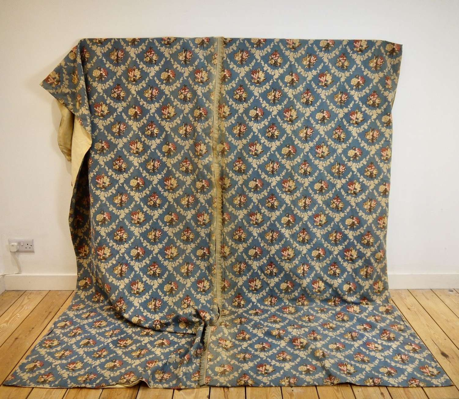 Pair of Linen Curtains French 19th Century