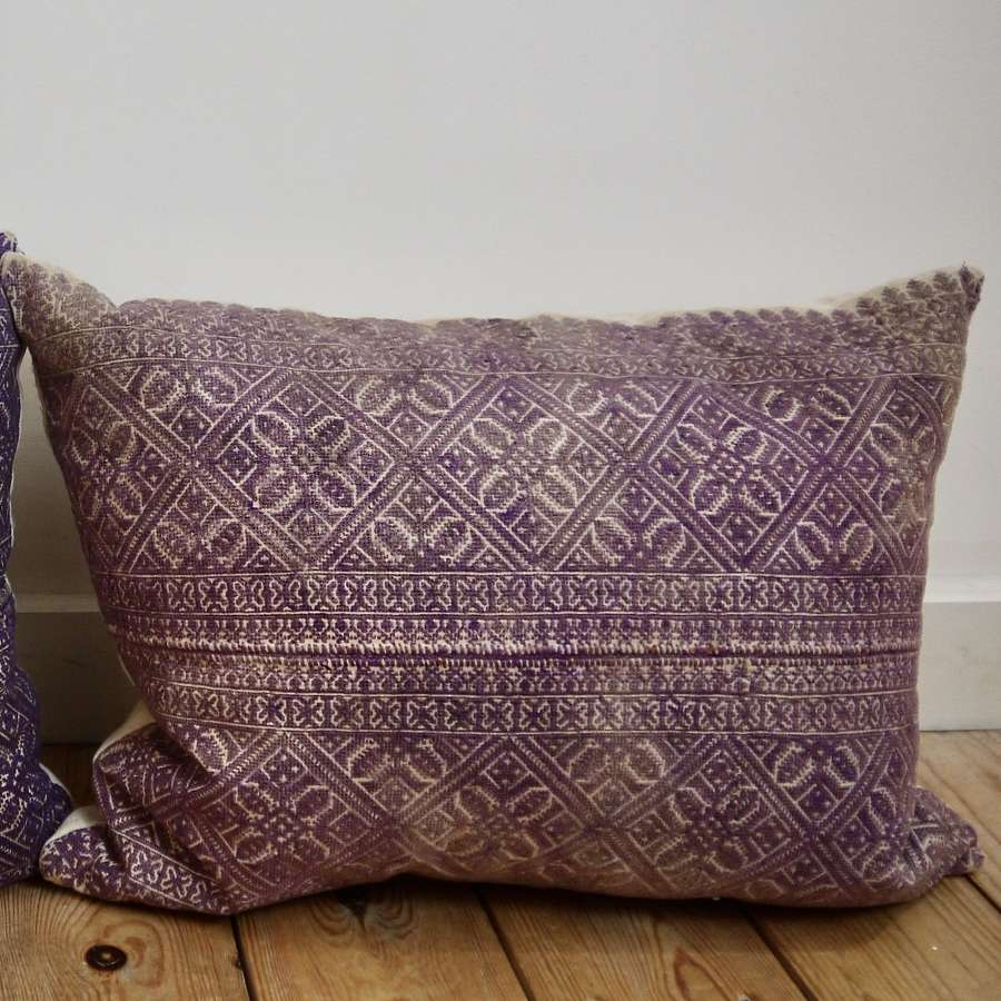 Fez Purple Cushion Moroccan Late 19th Century