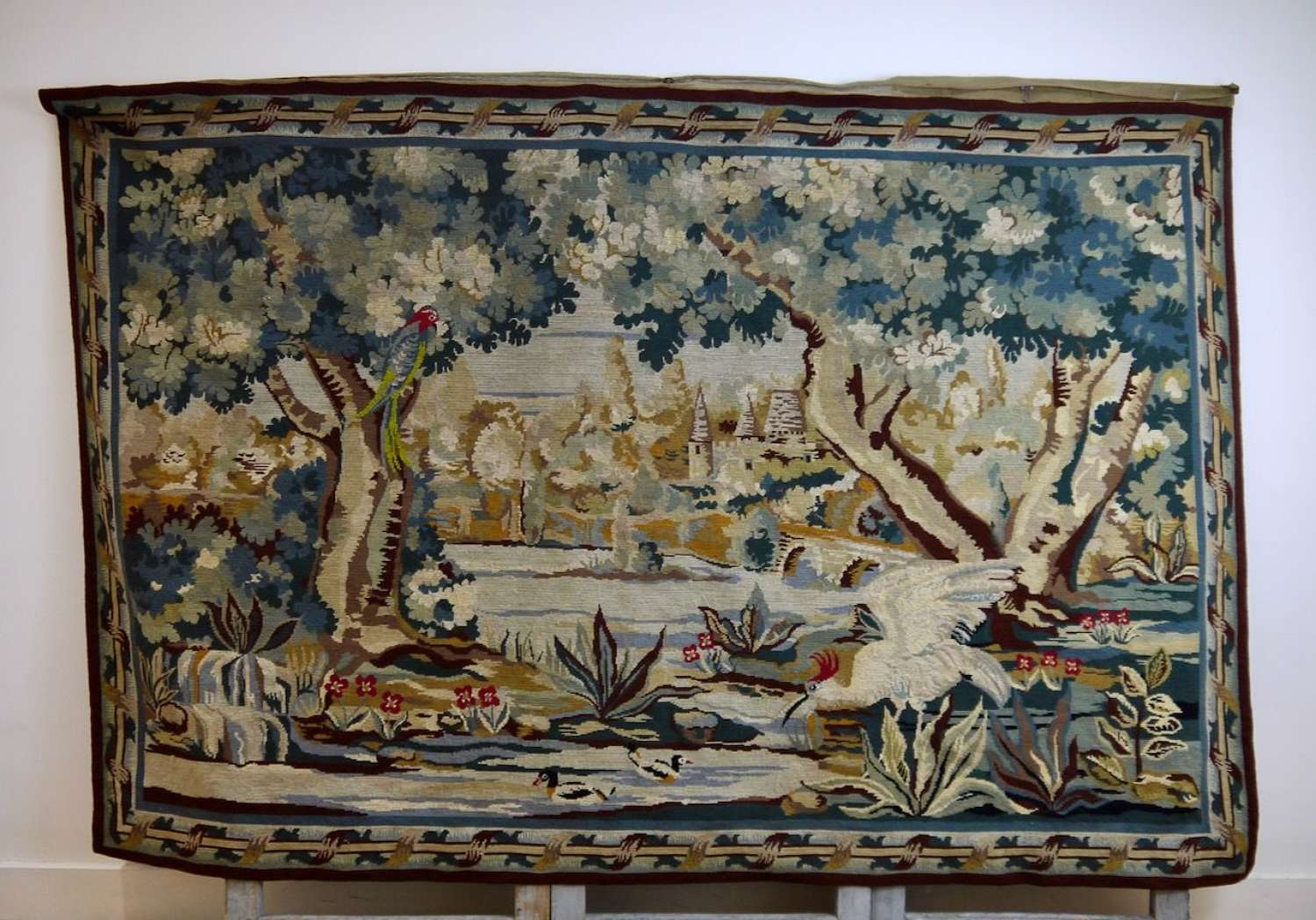 Verdure Wool Needlepoint Hanging French 19th Century