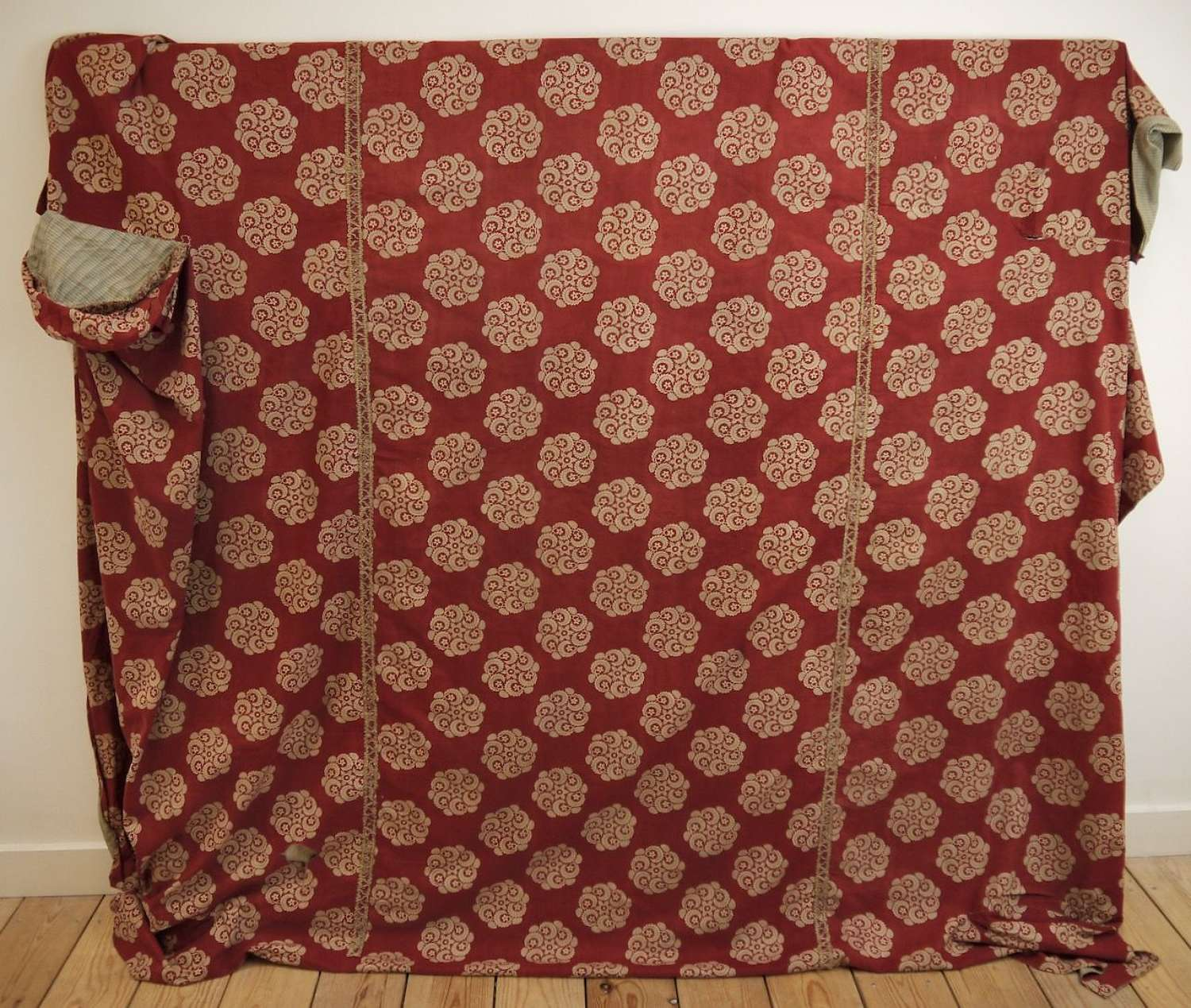 French Empire Block Printed Cotton Cover 19th Century