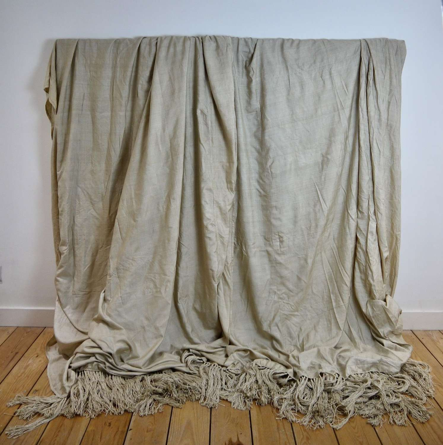 Pair of Raw Silk Curtains French C1900s