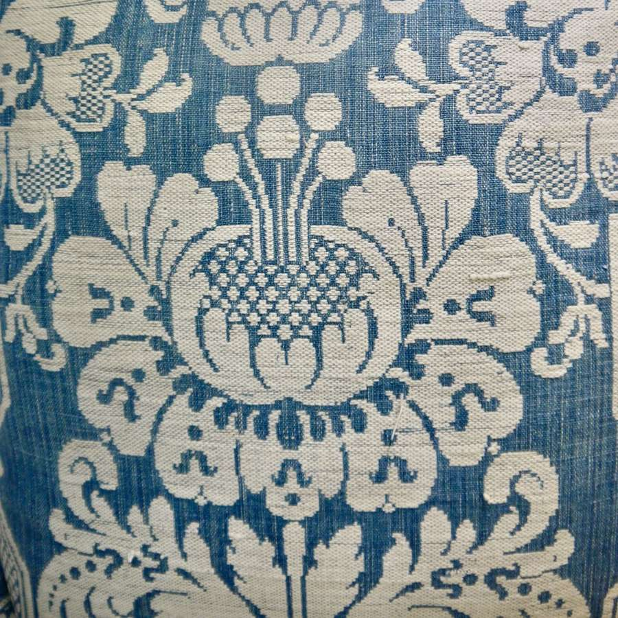 Toile D'Abbeville Cotton Cushion French 18th Century