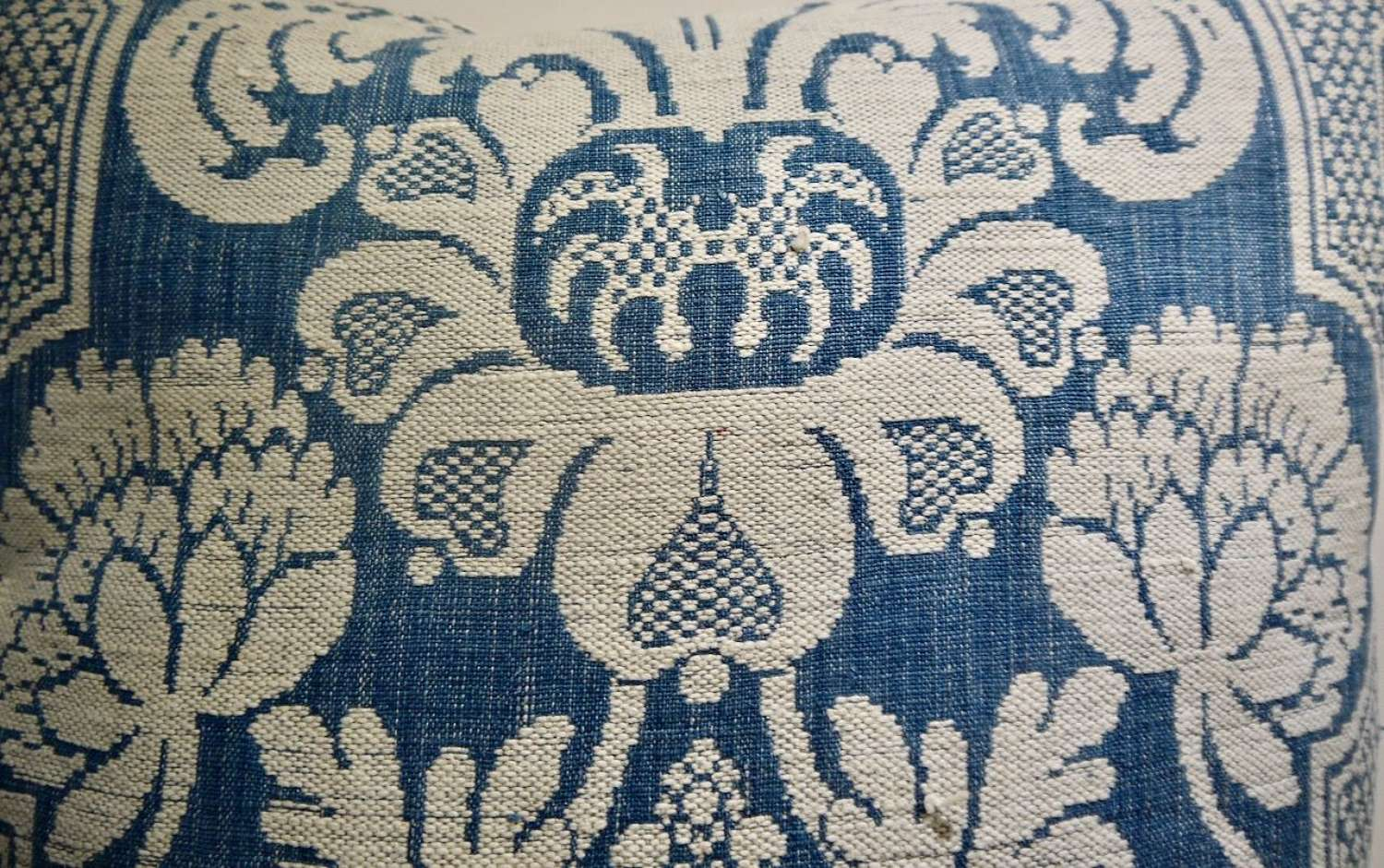 Toile D'Abbeville Cushion French 18th Century
