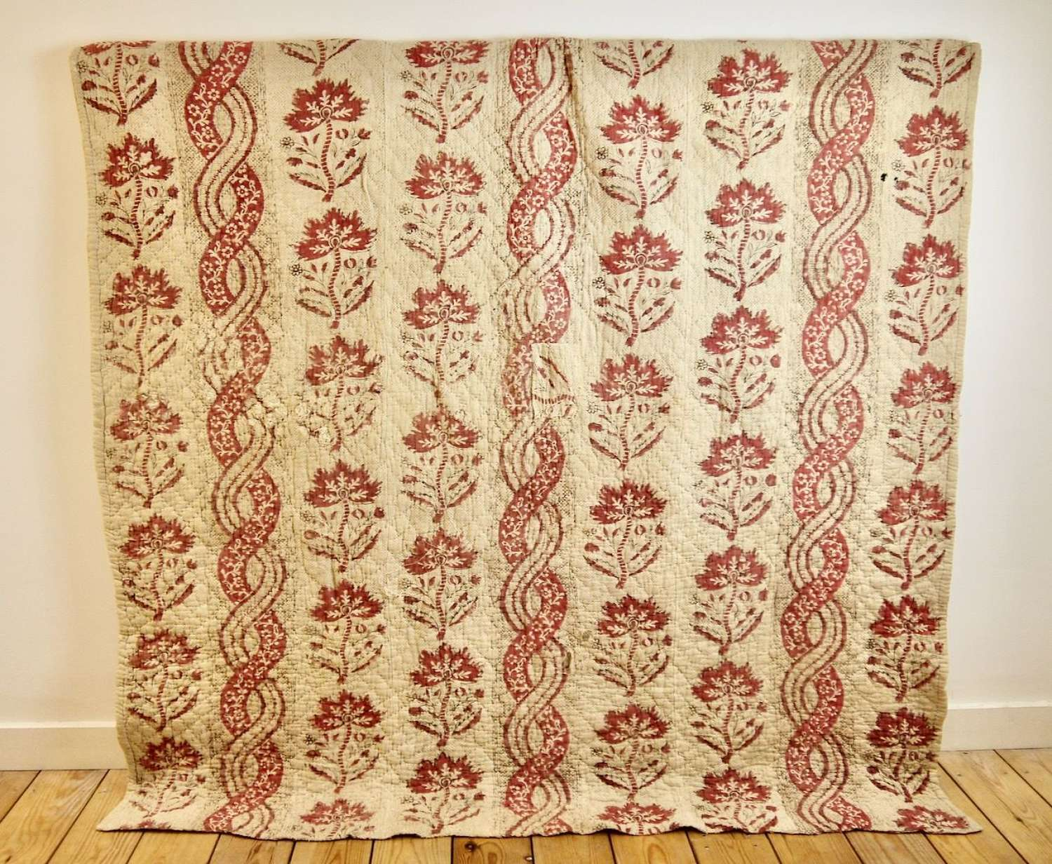 Block Printed Quilt French 18th Century