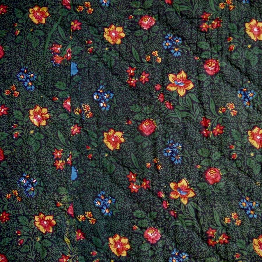 Bonnes Herbes Quilt French Early 19th Century
