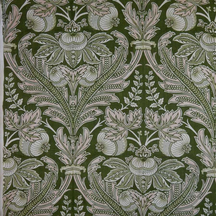Art Nouveau Linen Textile French Early 20th Century