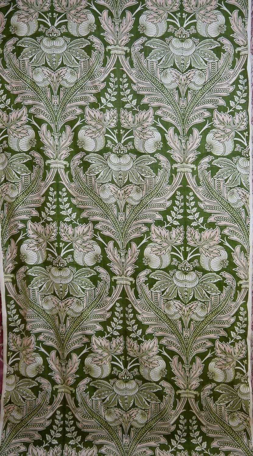 Art Nouveau Linen Textile French Early 20th Century