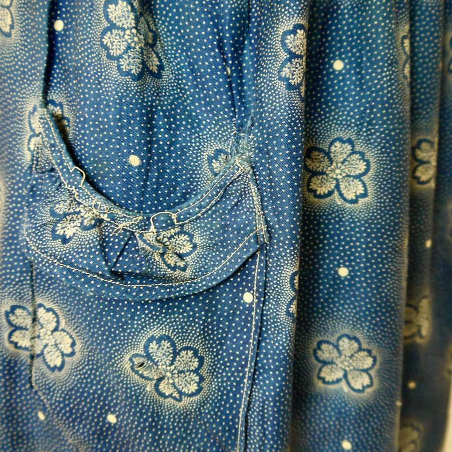 Indigo Apron French 1900s