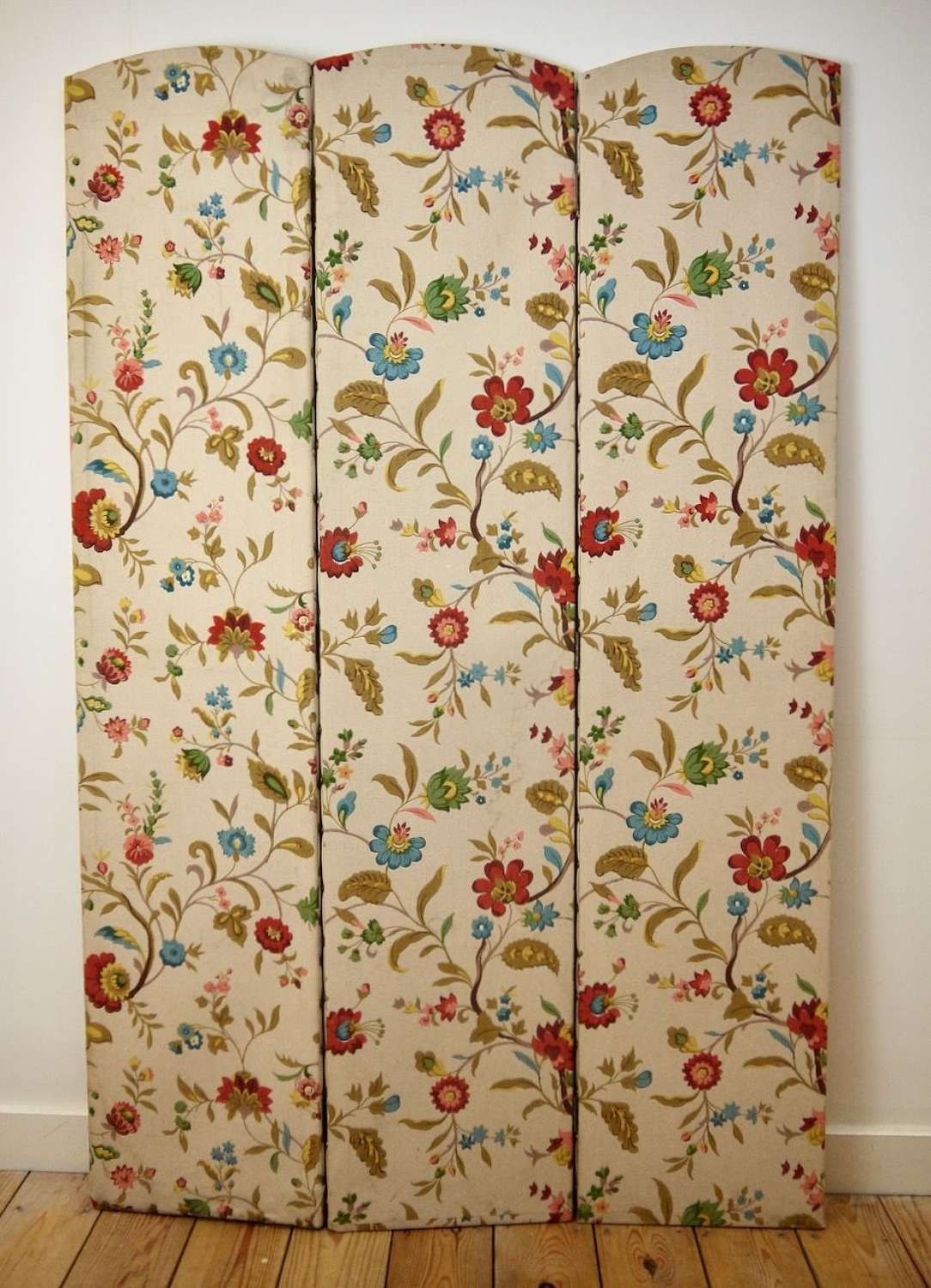 3 Fold Screen Cotton French early 20th Century