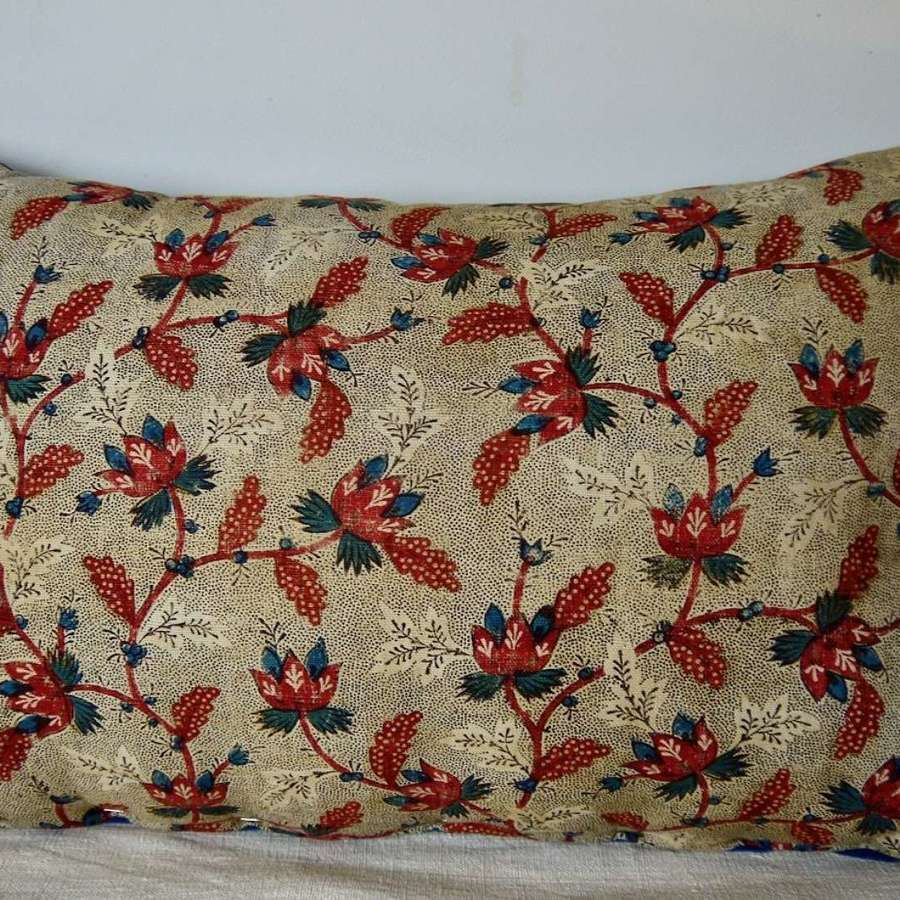 Block Printed Cushion French 18th Century