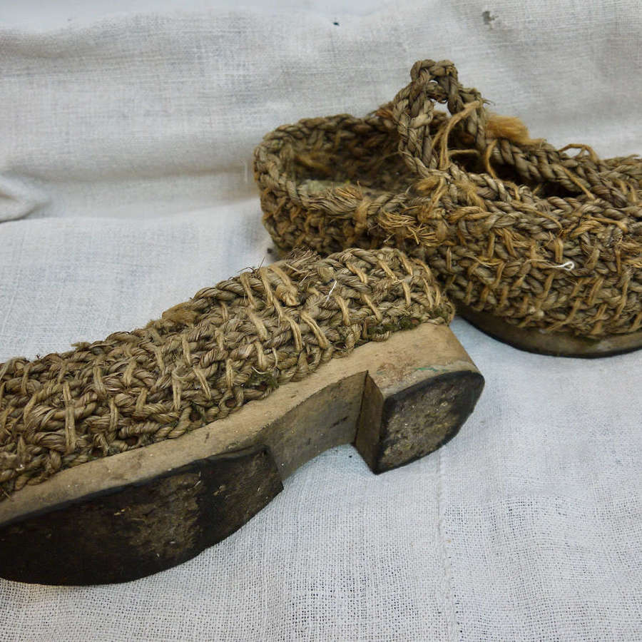 Pair of Rustic Shoes French Early 20th Century