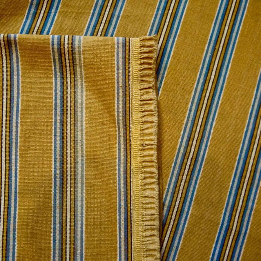 Saffron Yellow Striped Cotton Panel French